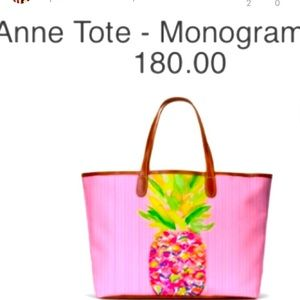 Barrington Pineapple Anne Tote Pink Monogram
